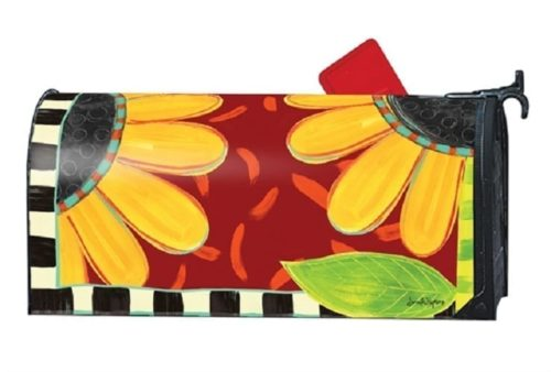 Whimsical Sunflower Mailwraps Mailbox Cover