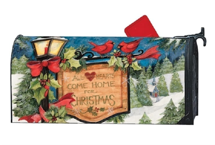 Christmas Mailbox Covers.Hometown Christmas Mailbox Cover