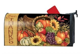 Harvest Blessings Mailbox Cover | Mailwraps | Garden House Flags