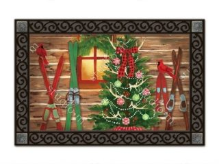 Christmas at the Cabin Doormat | Doormat | MatMate | Decorative Doormat