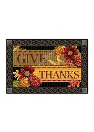 Thankful Turkey Doormat | Decorative Doormats | MatMates | Garden House Flags