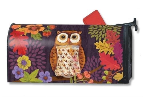 Floral Owl Mailwraps Mailbox Cover