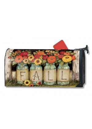 Fall Mason Jars Mailbox Cover | Decorative Mailwraps | Mailbox Covers