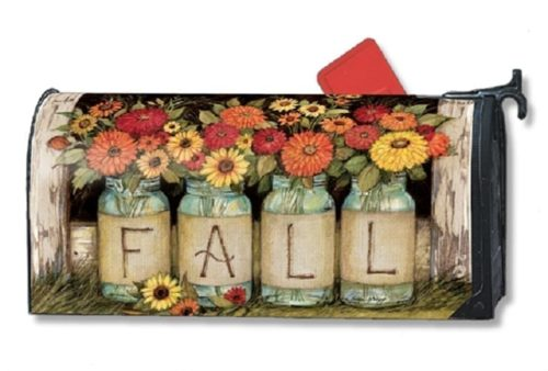 Fall Mason Jars Mailwraps Mailbox Cover
