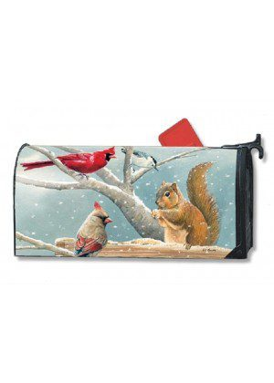 Winter Snack Time Mailbox Cover | Mailwraps | Christmas Mailbox Covers