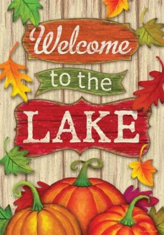 Lake Welcome Fall Flag | Thanksgiving Flags | Two-sided Flags | Fall Flag