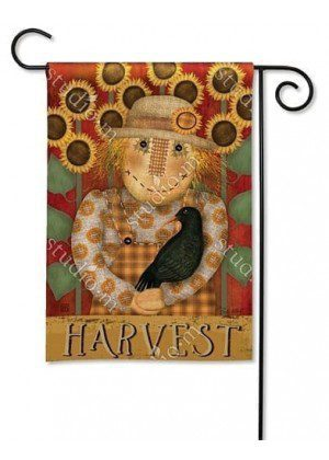 Harvest Scarecrow Garden Flag | Thanksgiving Flag | Fall Flag | Yard Flag