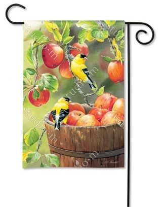Apple Harvest Friends Garden Flag | Fall Flags | Bird Flags | Garden Flags