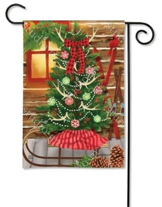 Christmas at the Cabin Garden Flag | Christmas Flags | Holiday Flags