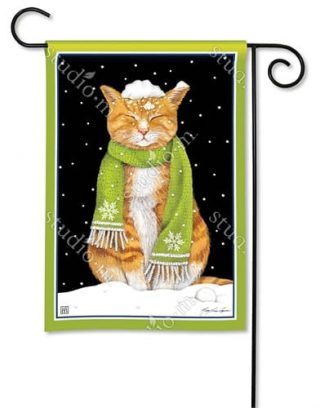 It Is Cold Outside Garden Flag | Winter Flags | Animal Flags | Yard Flags