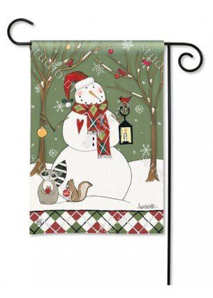 Party in the Woods Garden Flag | Christmas Flags | Snowman Flags | Flag