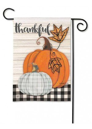 Plaid Pumpkin Garden Flag | Thanksgiving Flags | Yard Flags | Fall Flags