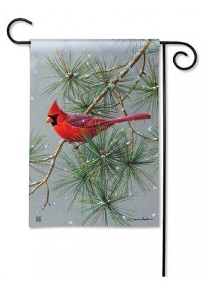 Winter Red Bird Garden Flag | Winter Flags | Bird Flags | Yard Flags | Flag
