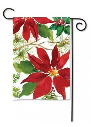 Pretty Poinsettia Garden Flag | Christmas Flags | Yard Flags | Cool Flags