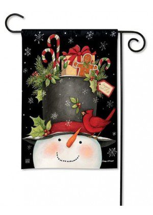 Hatful of Goodies Garden Flag | Christmas Flags | Snowman Flags