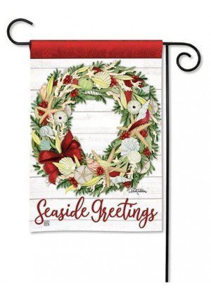 Seaside Greetings Garden Flag | Christmas Flags | Yard Flags | Cool Flags