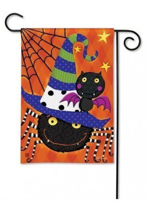 Spiders and Bats Garden Flag | Halloween Flags | Holiday Flags | Fall Flag
