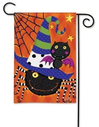 Spiders and Bats Garden Flag | Halloween Flags | Cool Flags | Yard Flags