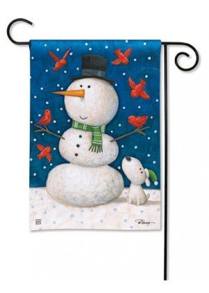 Winter Pals Garden Flag | Winter Flags | Snowman Flags | Yard Flags