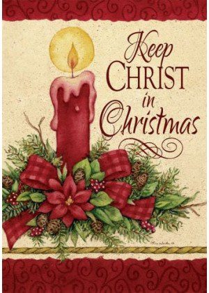 Keep Christ Flag | Christmas Flags | Two-sided Flags | Holiday Flags