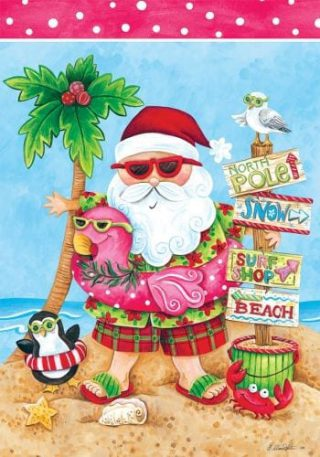 Santa Vacation Flag | Christmas Flags | Two-sided Flags | Holiday Flags