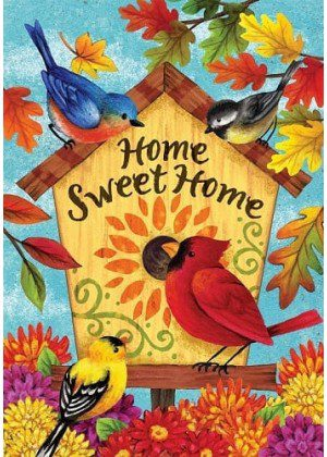 Fall Songbirds Flag | Decorative Garden Flags | House Flags | Garden House Flags
