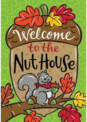 Nut House Flag | Decorative Flags | House Flags | Garden House Flags