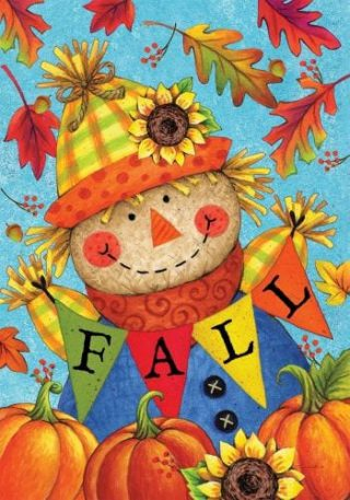 Fall Scarecrow Flag | Garden Flags | House Flags | Garden House Flags