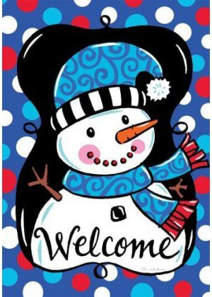 Whimsy Snowman Flag | Winter Flags | Snowman Flags | Two-sided Flags