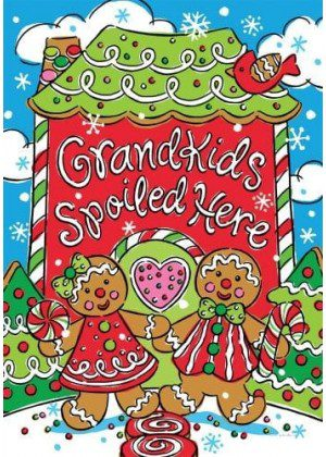 Christmas Grandkids Spoiled Flag | Christmas Flags | Two-sided Flags