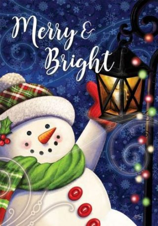 Merry & Bright Flag | Christmas Flags | Two-sided Flags | Holiday Flags