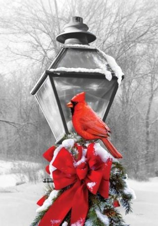 Cardinal Lamp Post Flag | Winter Flags | Cardinal Flags | Bird Flags | Flags