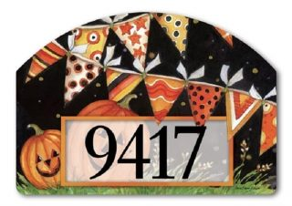 Party Time Pumpkins Yard Sign | Address Plaques | Yard Decor | Yard Sign