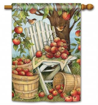 Apples Galore House Flag | Fall Flags | Summer Flags | Bird Flags | Flags
