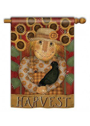 Harvest Scarecrow House Flag |Thanksgiving Flags | Fall Flags | Flags