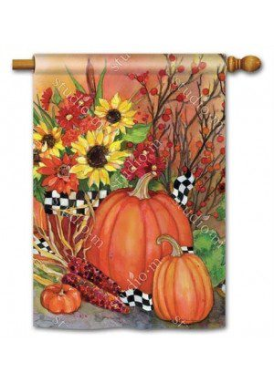 Ready For Fall House Flag | Thanksgiving Flags | Yard Flags | Fall Flags