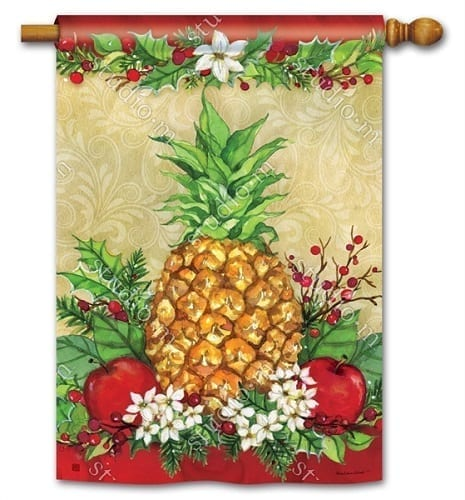 Holiday Pineapple House Flag