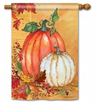 Traditional Pumpkins House Flag | Thanksgiving Flags | Fall Flags | Flags
