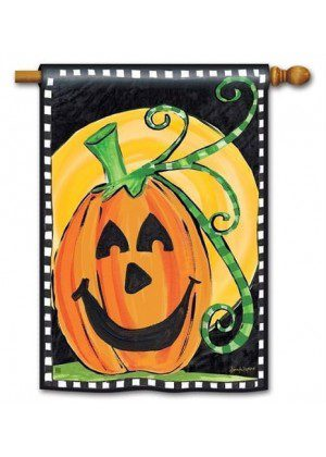 Halloween is Here House Flag | Halloween Flags | Holiday Flags | Fall Flag