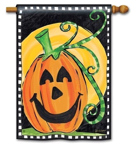 Halloween is Here Flag | Decorative House Flag | Garden House Flags