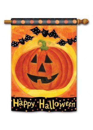 Jack and Friends House Flag | Halloween Flags | Holiday Flags | Fall Flags