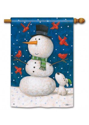 Winter Pals House Flag | Winter Flags | Yard Flags | Snowman Flags | Flag