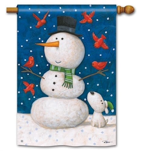 Winter Pals Flag | House Flags | Decorative Flags | Garden House Flags