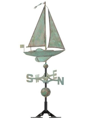 Copper Sailboat Weathervane | Weathervanes | Garden House Flags