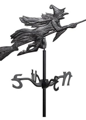 Witch Garden Weathervane | Garden Weathervane | Garden House Flags