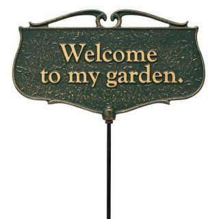 Welcome To My Garden Garden Sign | Garden Sign | Garden House Flags