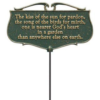 Kiss Of The Sun Poem Garden Sign | Garden Signs | Garden House Flags