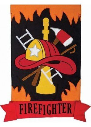 Firefighter Flag | Garden Flags | Applique Flags | Double Sided Flags | Flag