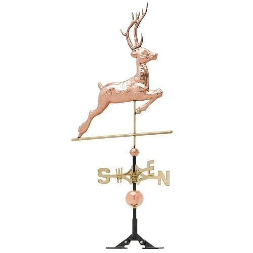 Copper Deer Rooftop Weathervane