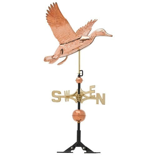 Copper Duck Weathervane | Weathervanes | Garden House Flags